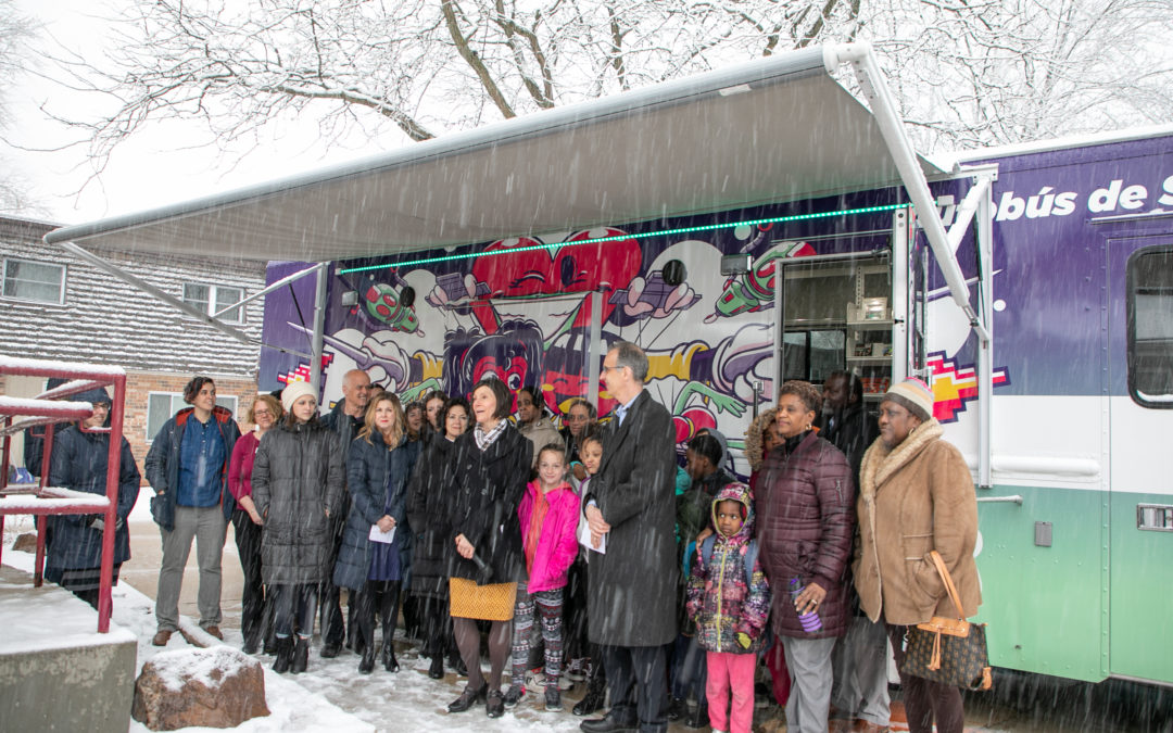 Dream Bus Mobile Library Serving Five Neighborhoods