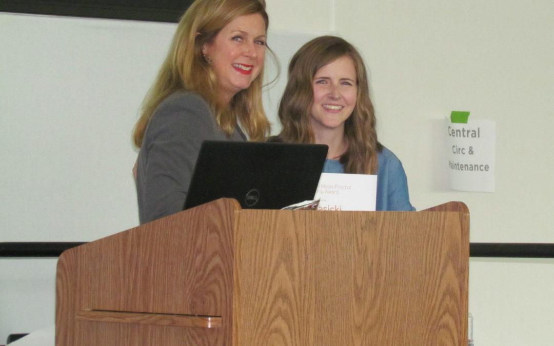 Library Page Jasicki Awarded Elizabeth Moon Proctor Scholarship