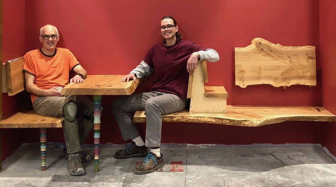 UW Art Professor Loeser Creates Ash Seating for New Pinney Library