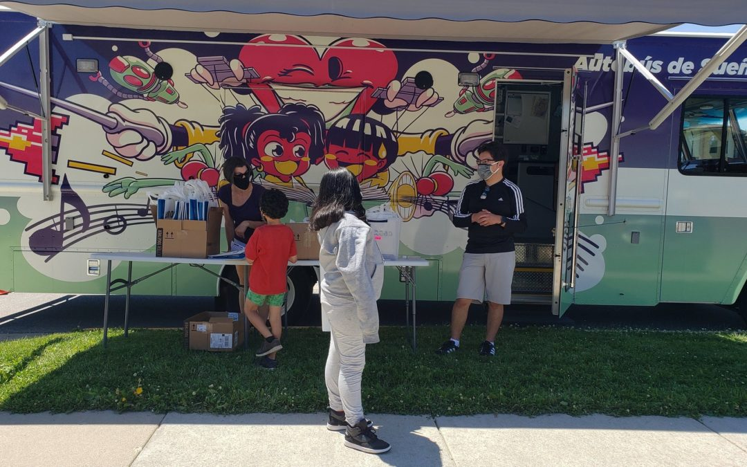 Dream Bus Delivers Books to Youth in Five Neighborhoods