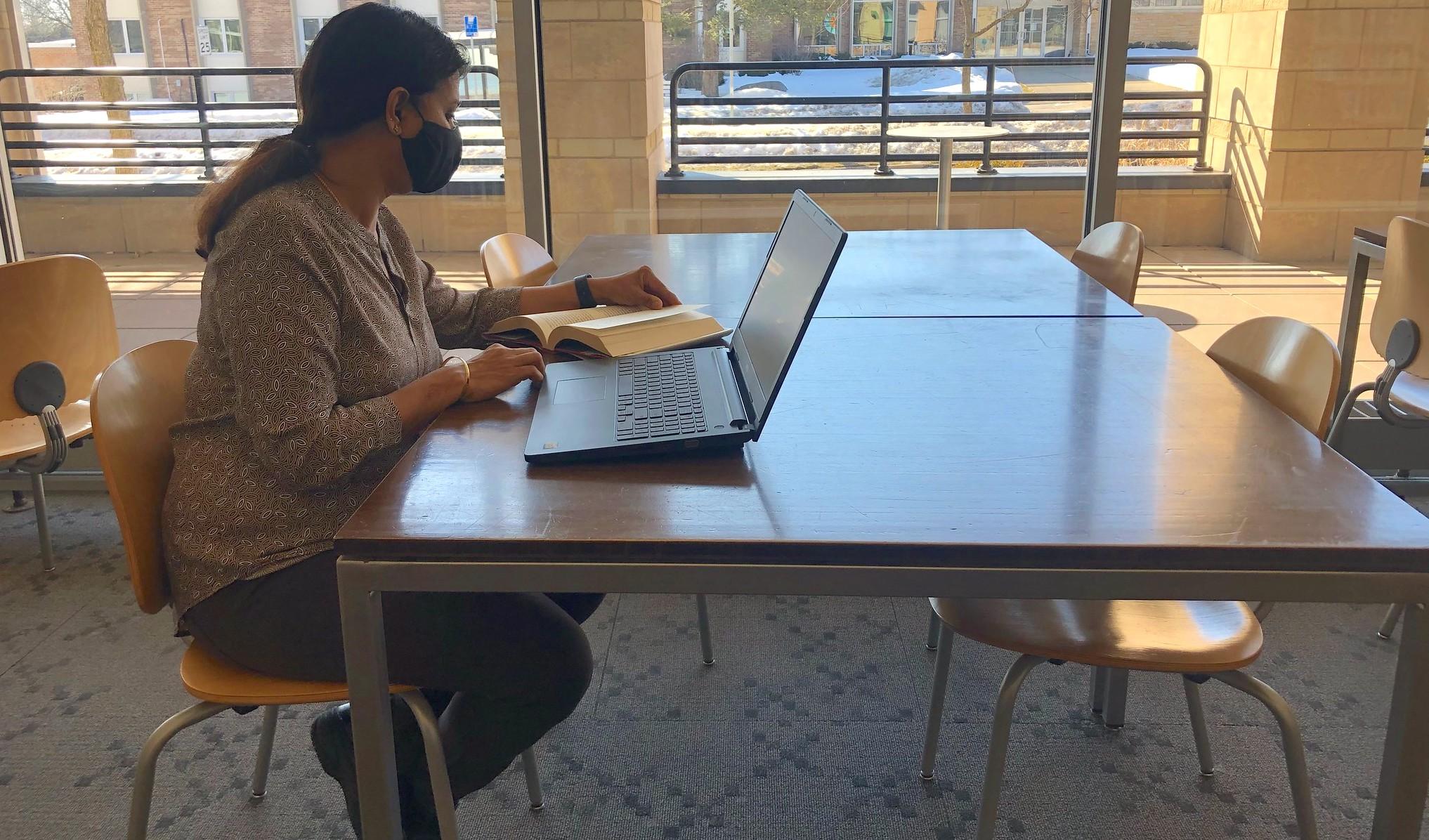 Genealogy research on laptop