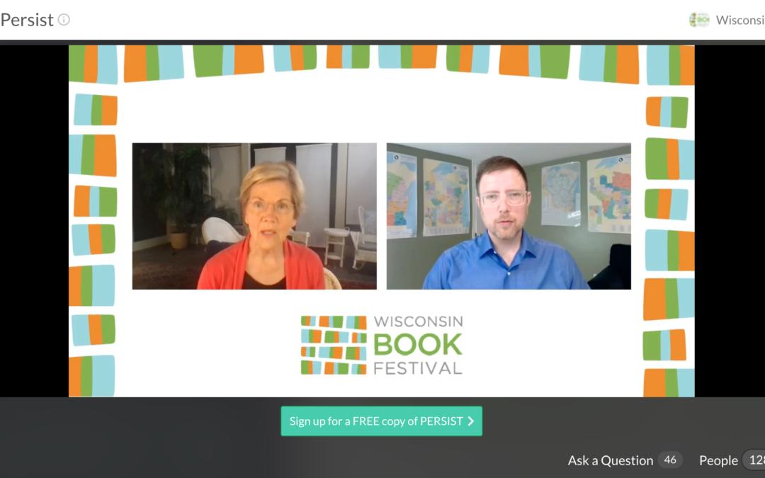 Elizabeth Warren virtual Wisconsin Book Festival event
