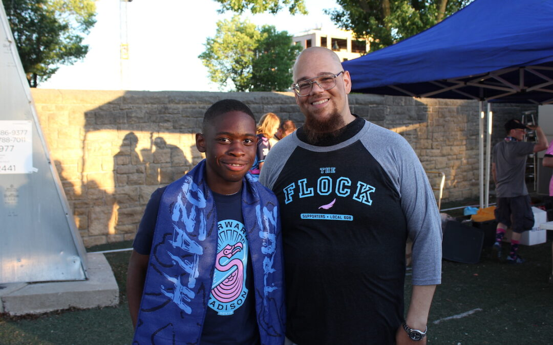 """Youth author Tikeh Tazeh and Media Projects Bubblearian Rob """"Dz"""" Franklin"""