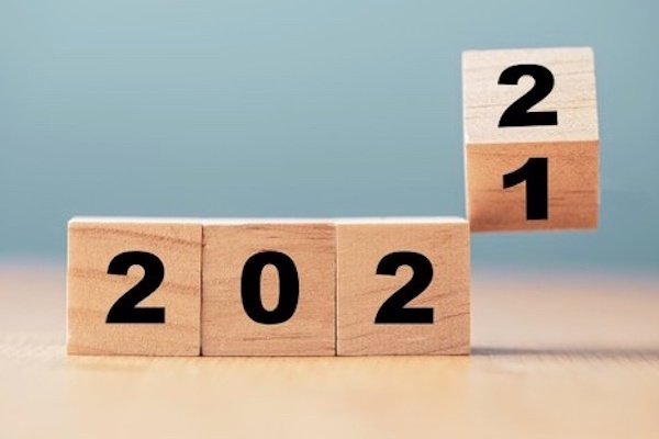Year changing from 2021 to 2022